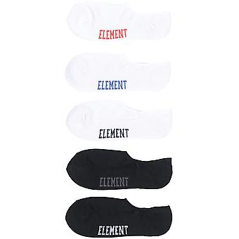 Element Low Rise Socks 5 Pack No Show Socks in Multico