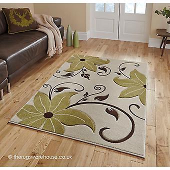 Menia Beige grün Teppich