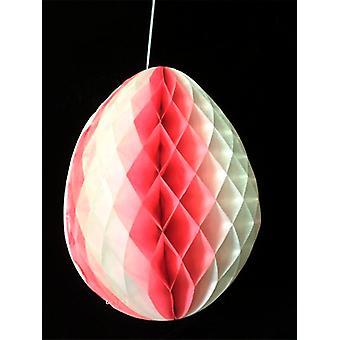 Розовый & белой ткани яйцо Украшение