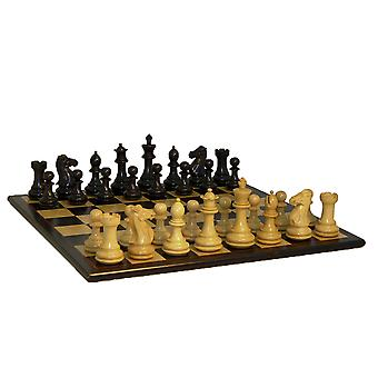 Black Exclusive Double Queens Chess Set 4 Inch Kings