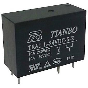 Tianbo Electronics TRA1 L-24VDC-S-Z PCB relay 24 V DC 12 A 1 change-over 1 pc(s)