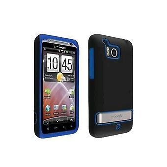 OEM Verizon Double Cover Case for HTC Thunderbolt 6400 (Black / Blue) (Bulk Packaging)