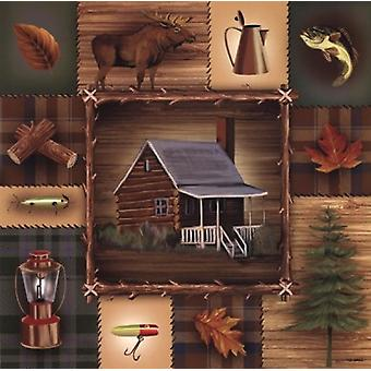 At the Cabin Poster Print by Ed Wargo (18 x 18)