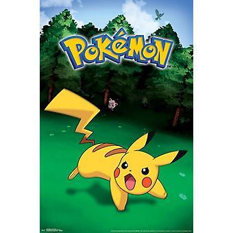 Pokemon - Pikachu Catch Poster Print