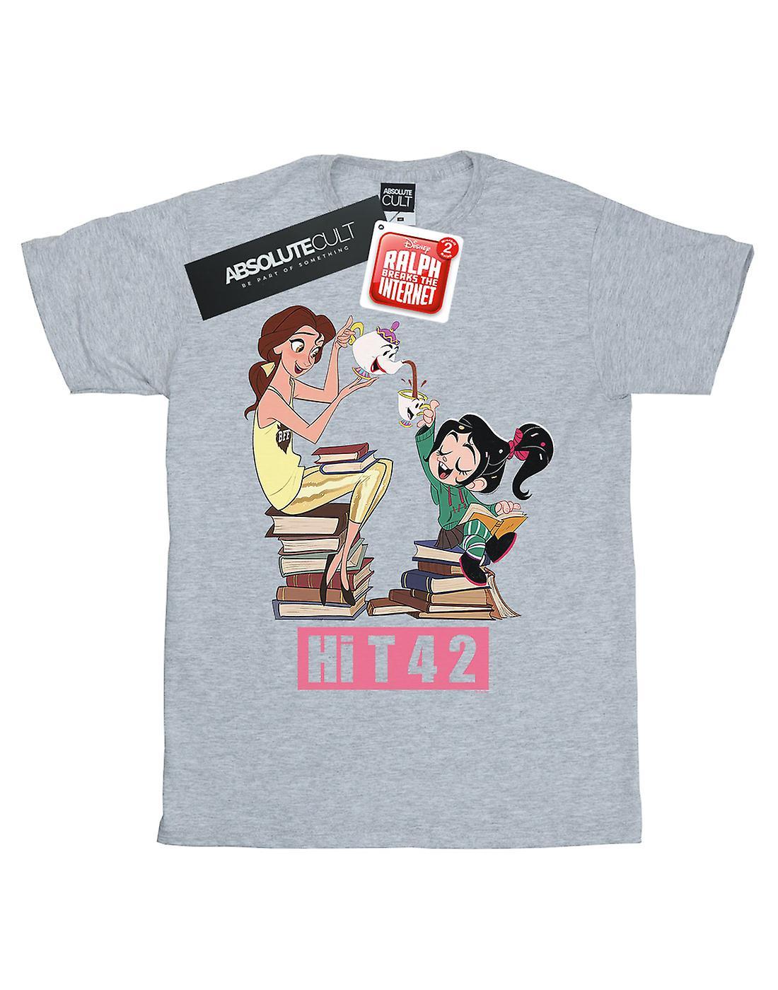 Disney Women's Wreck It Ralph Belle And Vanellope Boyfriend Fit T-Shirt