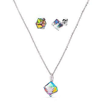 Set di gioielli cubo