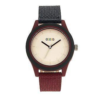 Crayo aangenaam Unisex horloge-Navy/Maroon