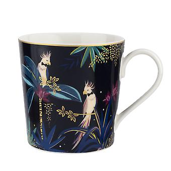 Sara Miller Tahiti Mug, Cockatoo