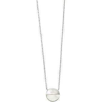 Beginnings Mother of Pearl and Disc Necklace - Silver/Clear