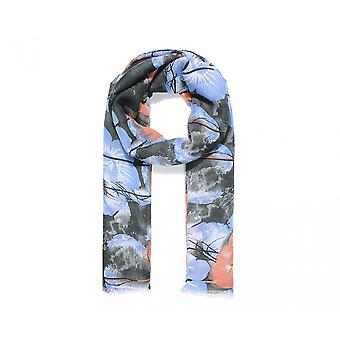 Intrigue Womens/Ladies Frayed Edge Floral Print Scarf