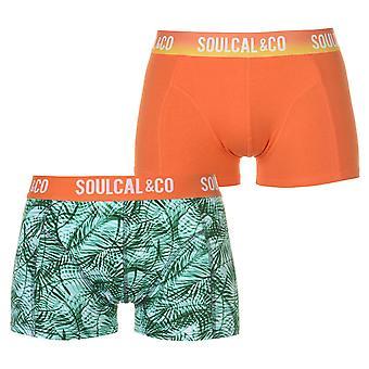 SoulCal Mens stammar boxare Pack 2 underkläder mönster stretch resår i midjan