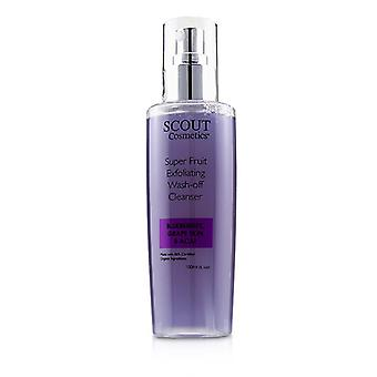 Scout Cosmetics Super Fruit Exfoliating Wash-off Cleanser With Blueberries Grape Skin & Acai - 150ml/5.1oz