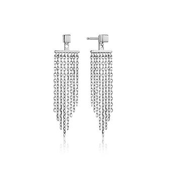 Ania Haie Sterling Silver 'Fringe Fall' Earring Jackets
