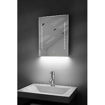 Digital Clock-Rasierer-Spiegel mit RGB Beleuchtung, Demist & Sensor k189rgb