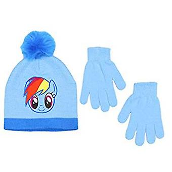 Beanie Cap - My Little Pony - Rainbow Dash Blue Set w/Glove