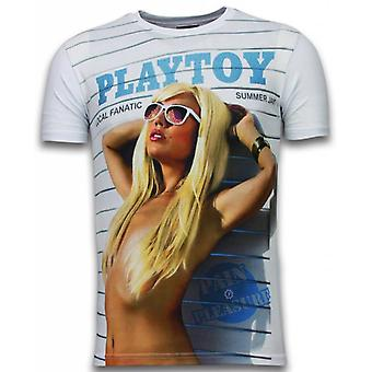 Playtoy Summer Jam - Digital Rhinestone T-shirt - Wit
