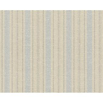 A.S. Creation AS Creation Striped Pattern Wallpaper Fabric Faux Effect Textured Motif 351851