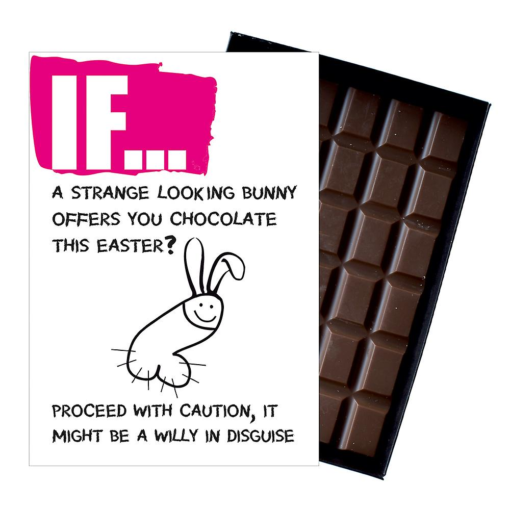 Easter Gift A Funny Rude Boxed Chocolate Bar For Girlfriend Wife or Women IF108