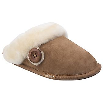 Cotswold Womens Lechlade Sheepskin Mule Slipper Chesnutt