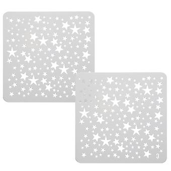 TRIXES Mini Stars Drawing Stencils Templates x 6 for Scrapbooking Card Making