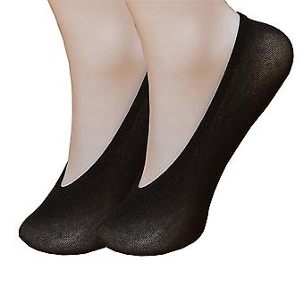 Stockings feet Invisible 10 pairs size 34-40 black with silicone Anti-slip heel