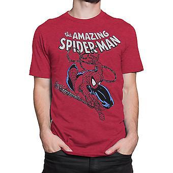 Hämmästyttävä hämähäkki mies svengaava miesten ' s T-paita