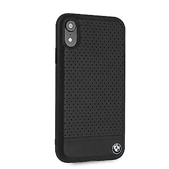 BMW BMHCI61PEBOBK Leder Hard Case für iPhone Xr-Black