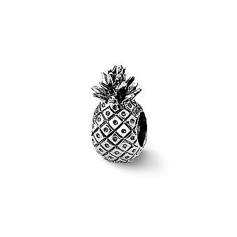 925 Sterling Silver Polished Reflections Pineapple Bead Charm Pendant Necklace Jewelry Gifts for Women