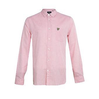 Lyle & Scott Cotton Linen Shirt - Coral Way