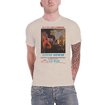 David Bowie camiseta deixa Dance Album versão japonesa nova oficial Mens Sand