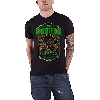 Pantera T Shirt Snakebite XXX Label Trendkill Band Logo new Official Mens Black