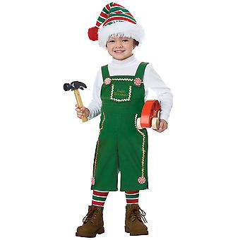 Jolly Lil Elf Christmas Joy Santa's Helper Toddler Child Girls Boys Costume