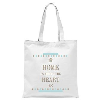 Home Is Where The Heart Is Tote Bag - White