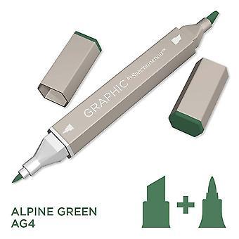 Graphic by Spectrum Noir Single Pens - Alpine Green