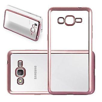 Cadorabo Hülle für Samsung Galaxy GRAND PRIME Case Cover - Handyhülle aus TPU Silikon im Chrom Design - Silikonhülle Schutzhülle Ultra Slim Soft Back Cover Case Bumper
