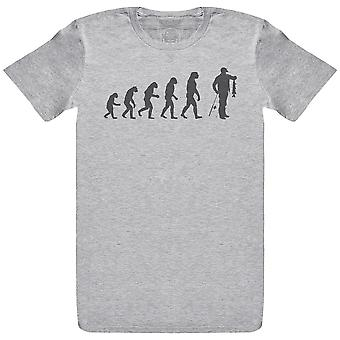Evolution To Fishing Caught - Mens T-Shirt