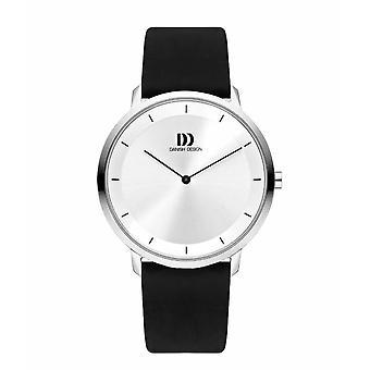 Dansk design IQ12Q1258 svart skinn armbåndsur