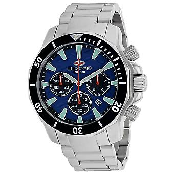 Seapro Men's Scuba Dragon Diver Edición Limitada 1000 Metros Reloj De Marcado Azul - SP8344