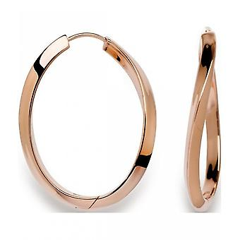 bastian inverun - silver stud earrings Creole, rose gold gold plated - 20550