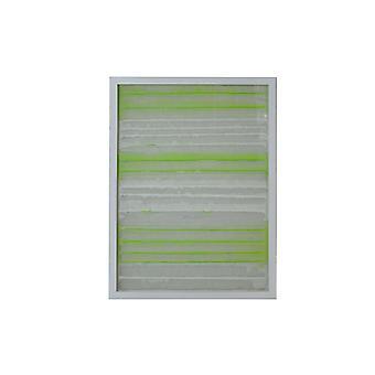 Fun White en Green Stripes Shadow Box Wall Art