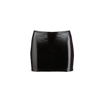 Wet Look Mini jupe-noir