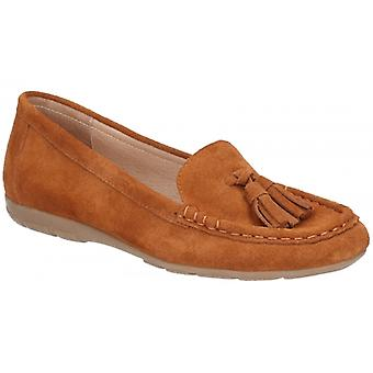 Hush Puppies Daisy Moccassin dames lederen kwast loafers Tan
