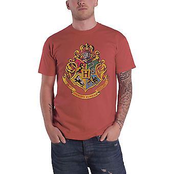 Harry Potter T Shirt Hogwarts School Crest Logo new Official Mens Maroon