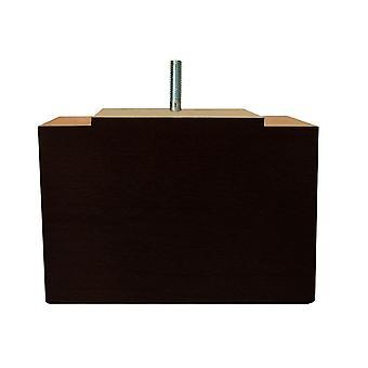 Picior de mobilier dreptunghiular din lemn negru 11 cm (M8)