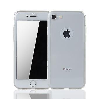 Apple iPhone 8 Handy-Hülle Schutz-Case Cover Panzer Schutz Glas Transparent Matt