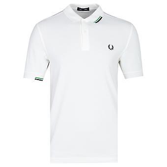 Fred Perry Asymmetrisch gekippt weiße Polo Shirt