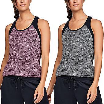 Under Armour UA Womens Tech Color Block Sports Gym Active Training Vest Tank Top
