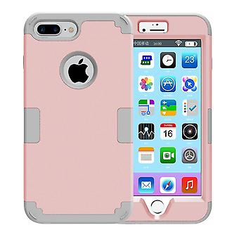 För iPhone 8 PLUS, 7 PLUS-fodral, Modish Triple Layer Armour Durable Cover, Rose Gold