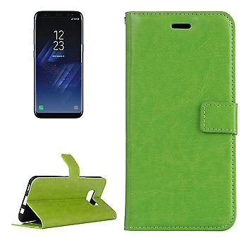 Per Samsung Galaxy S8 Case,Elegante copertina in pelle con texture retro cavallo con texture,Verde