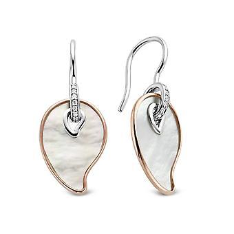 Ører Ti Sento flimrende lys 7792MR øreringe - Øreringe Sølv ører form dråbe perlemor og dor steg